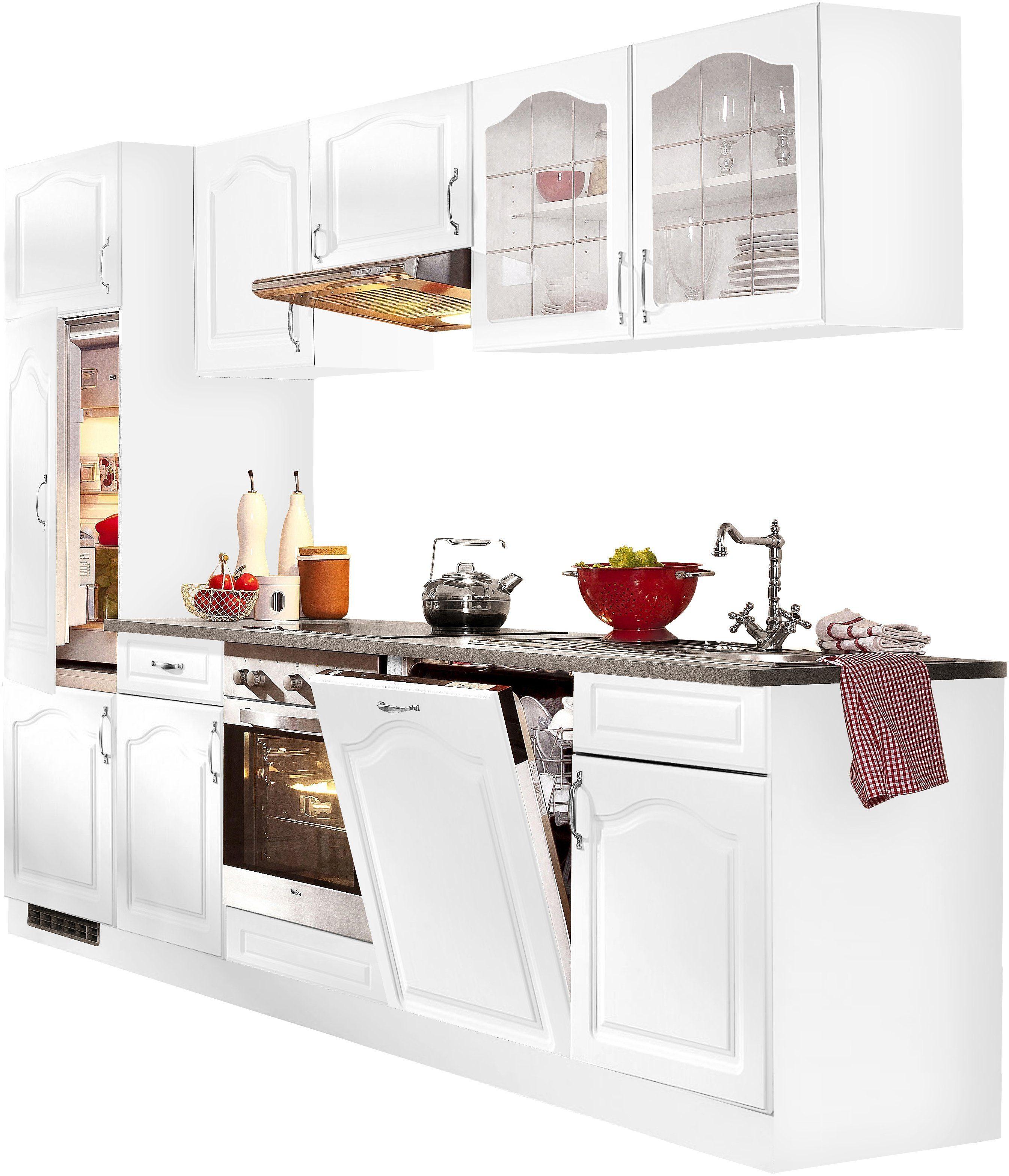 wiho Küchen Küchenzeile »Linz«, mit E Geräten, Breite 280 ...