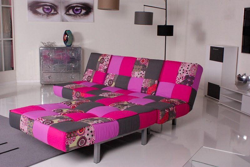 Kasper-Wohndesign Relax Ecksofa Selina Bettsofa Stoff