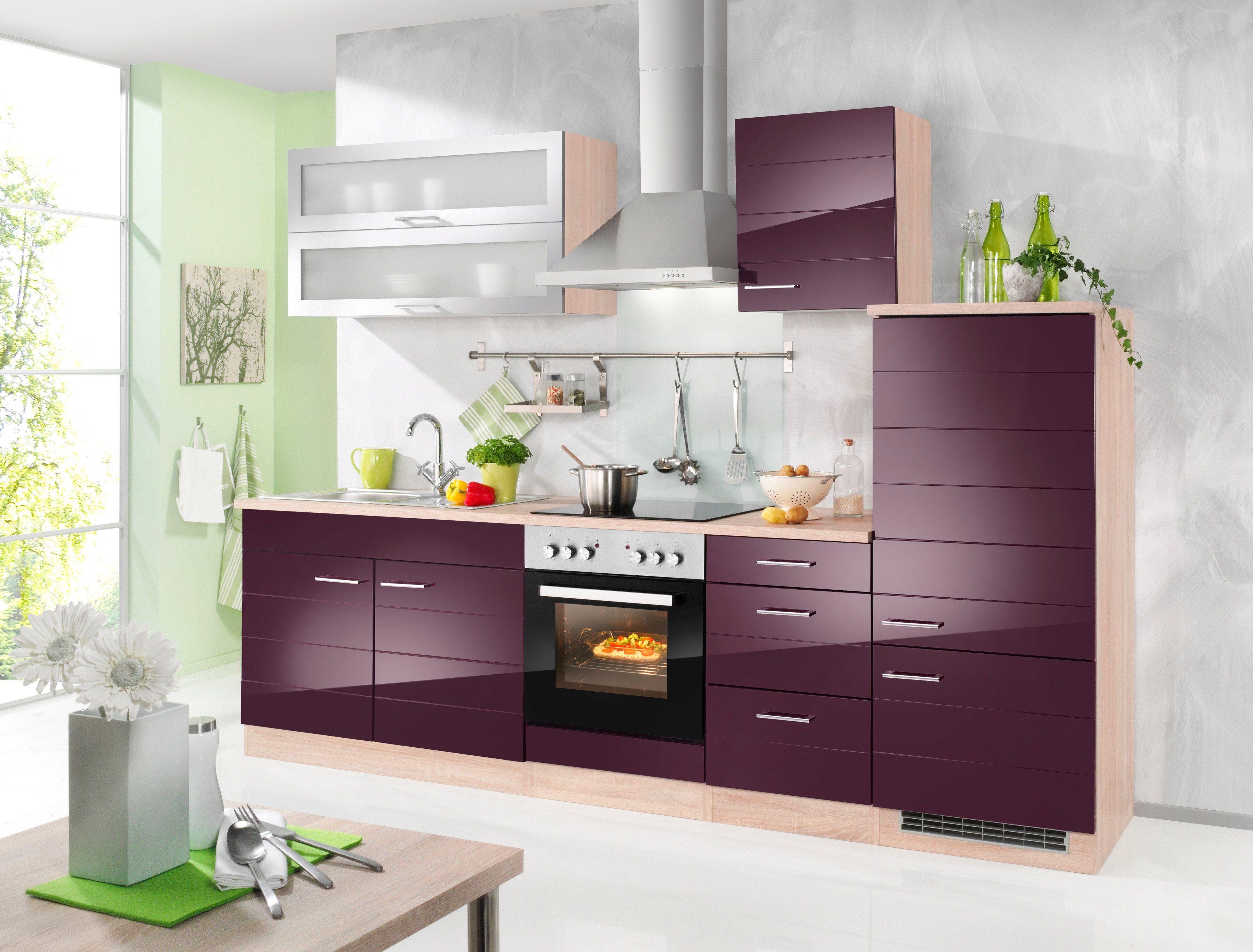 HELD MÖBEL Küchenzeile mit E Geräten »Emden, Breite 270 cm ...
