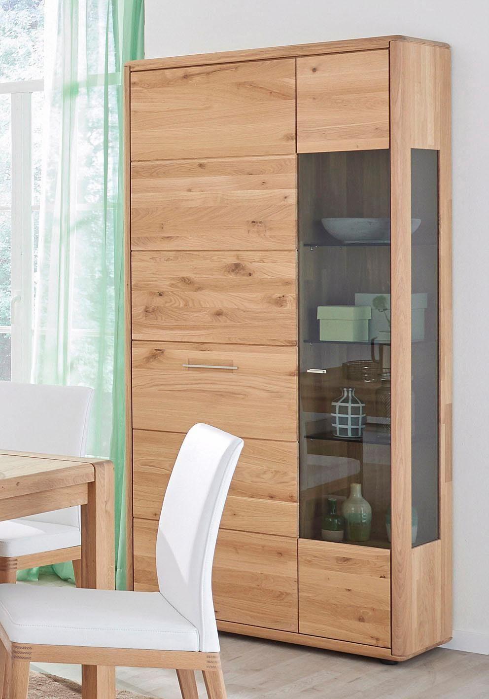 DECKER Vitrinenschrank »DERVIO« aus Massivholz, mit Glaseinsatz, Höhe 202 cm online kaufen   OTTO