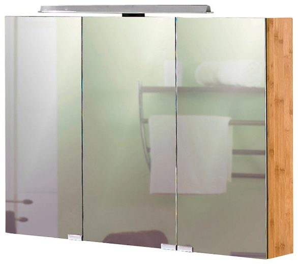 Schildmeyer Spiegelschrank »Bambus« Breite 90 cm, mit LED ...