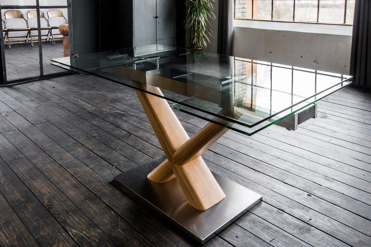 Kasper Wohndesign Esstisch aus Glas 160cm ausziehbar »GINO ...
