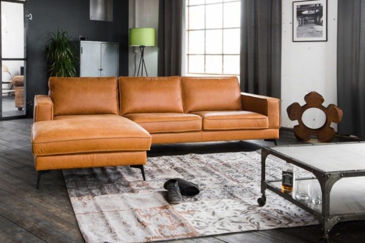 Kasper-Wohndesign Sofa Leder Retro Versch. Farben