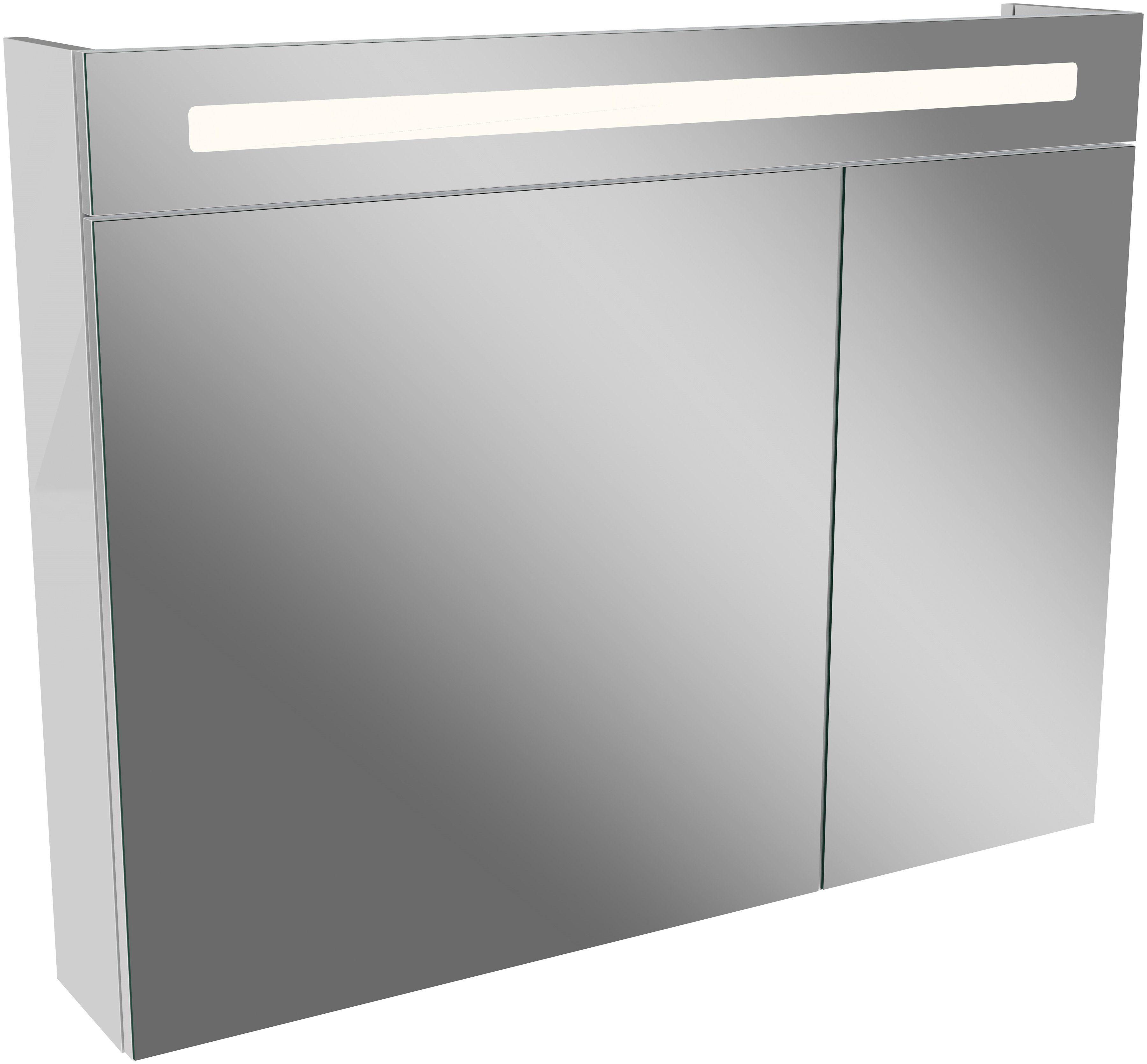 FACKELMANN Spiegelschrank »LN 90   weiß«, Breite 90 cm, 2 ...