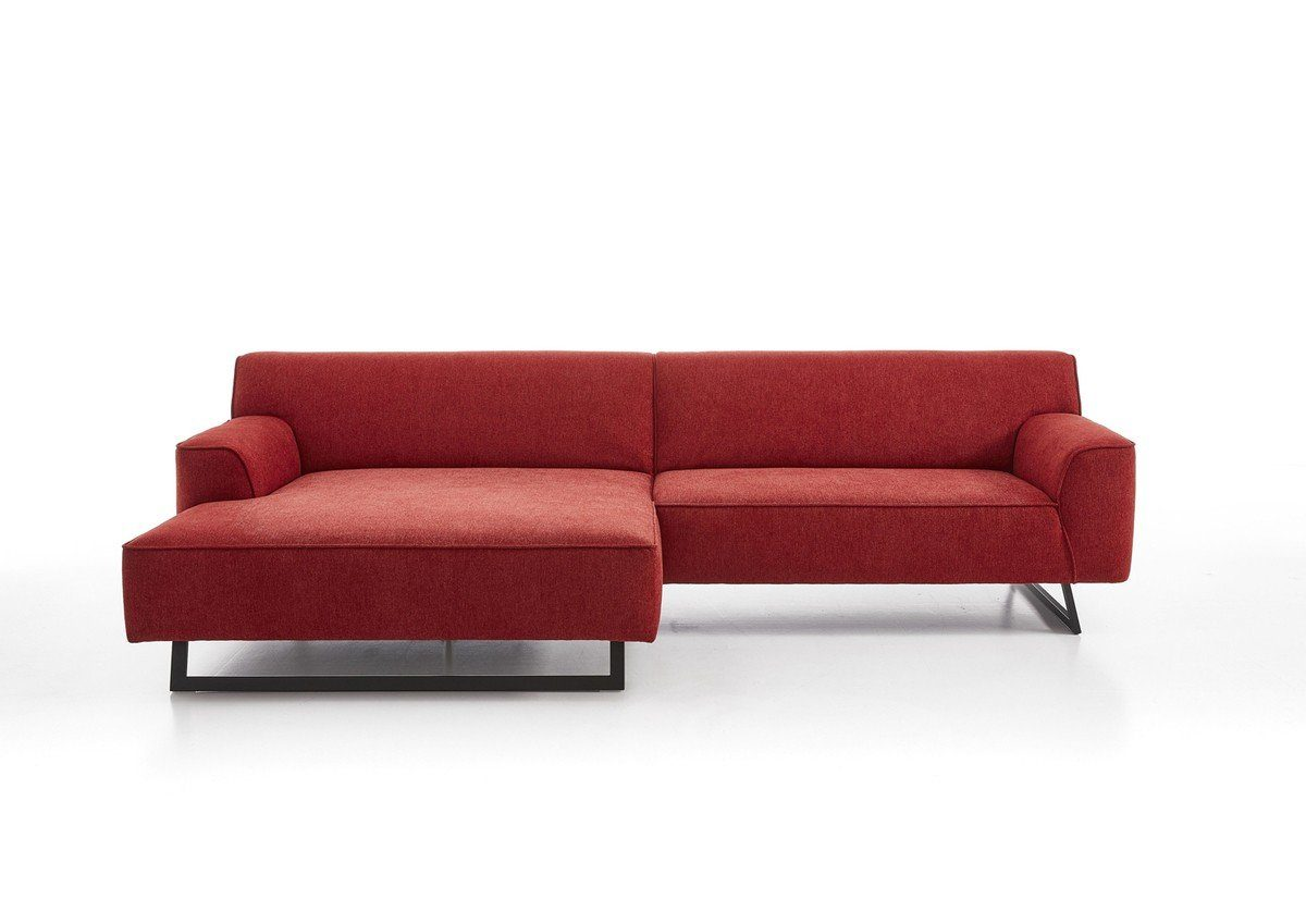 Kasper-Wohndesign XXL Sofa Rot Mit Recamiere »Bulli