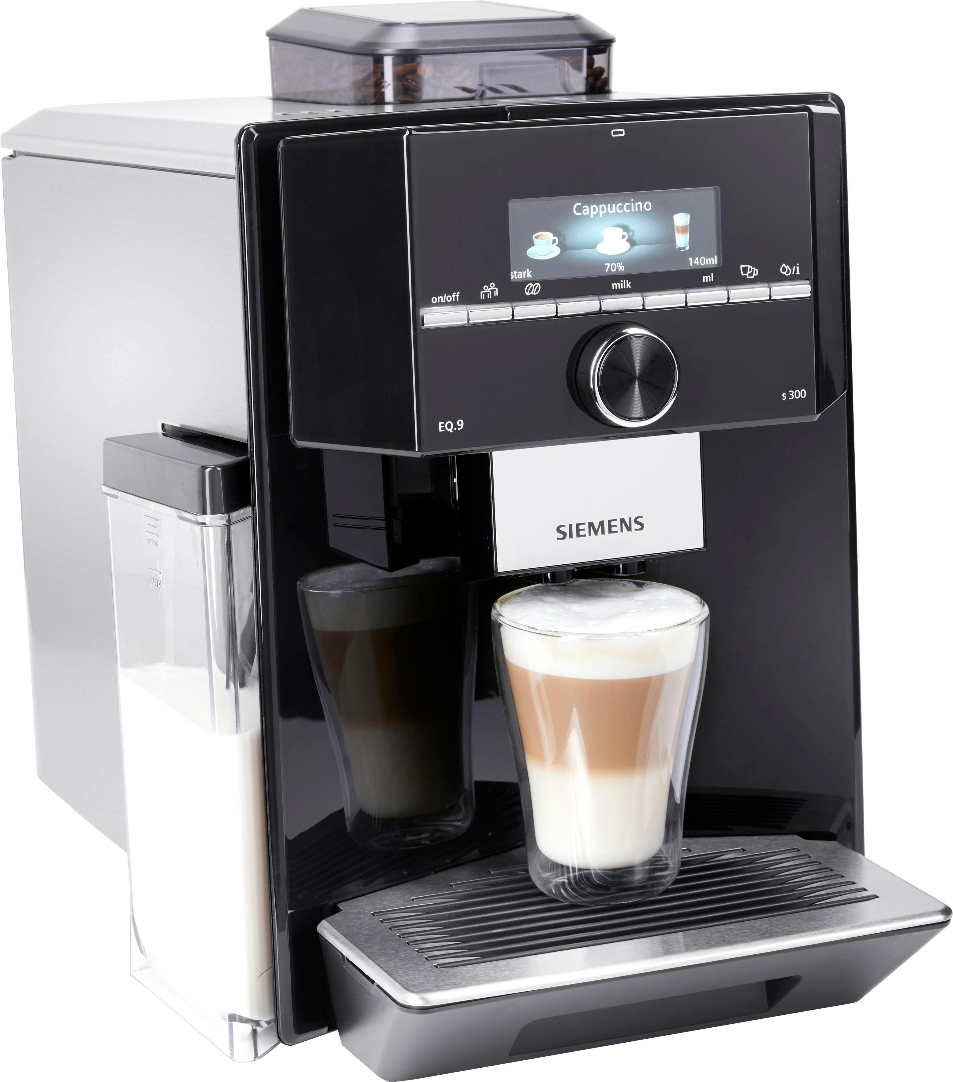 Siemens Kaffeevollautomat Kaffeevollautomat Eq 9 S300 Ti923509de Individualcoffee System Personliches Getranke Menu Fur Bis Zu 6 Profile Online Kaufen Otto