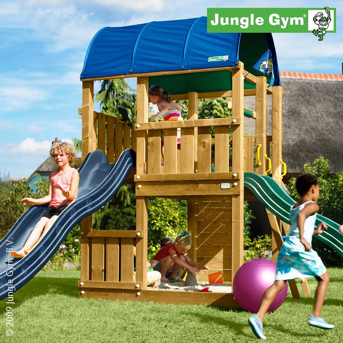 Jungle Gym Spielturm Farm, Rutsche blau kaufen   OTTO
