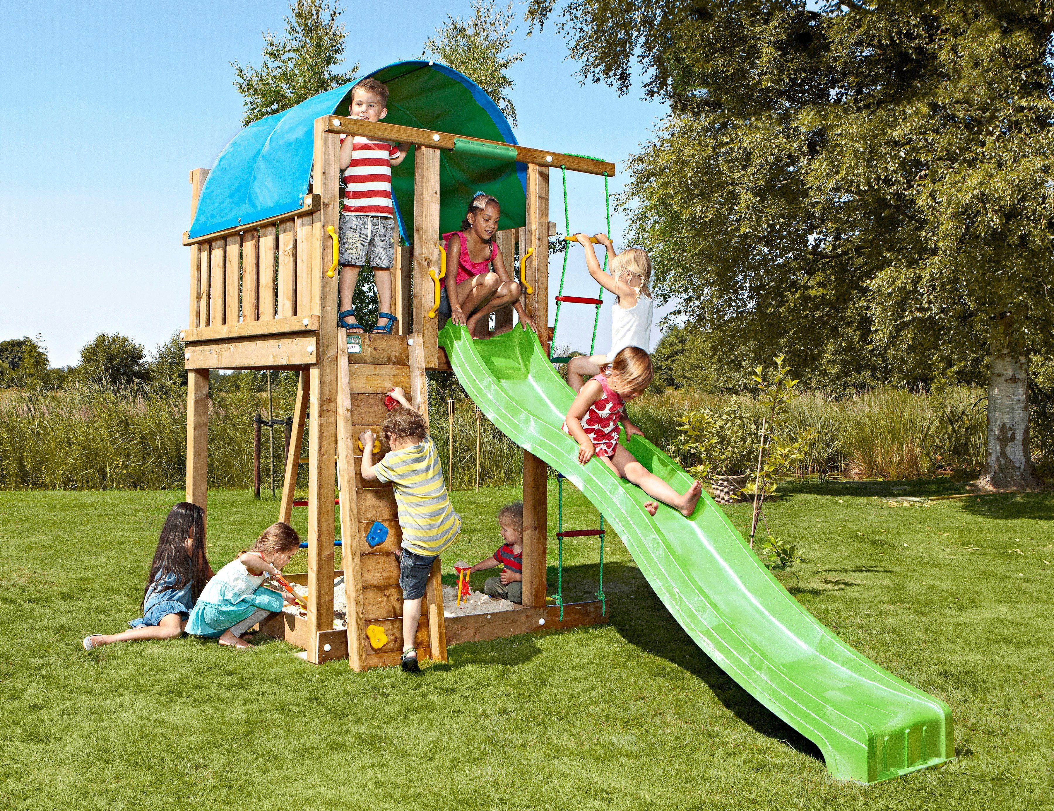 JUNGLE GYM Spielturm »Jungle Villa«, BxTxH 170x390x270 cm ...