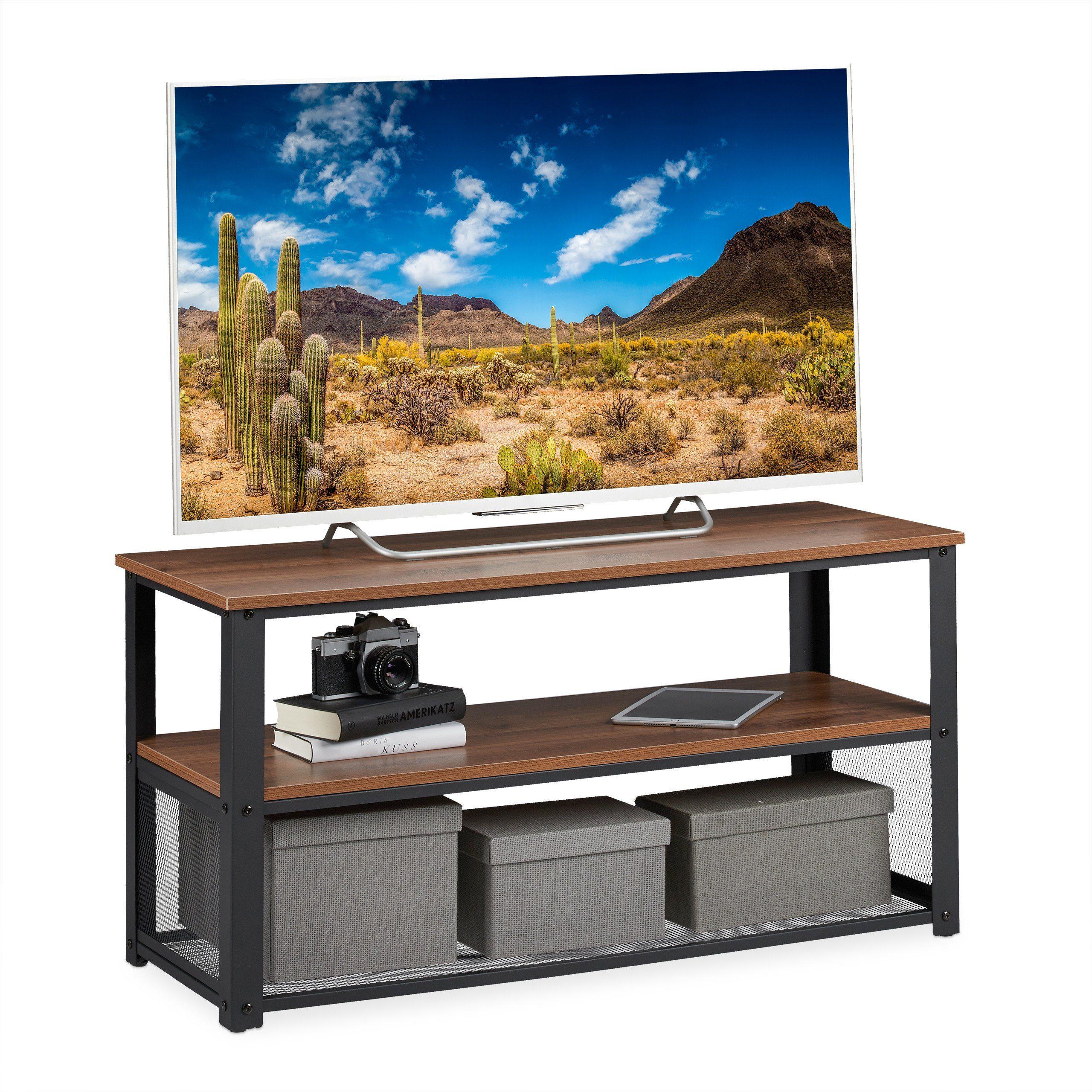 relaxdays tv board tv bank industrial design