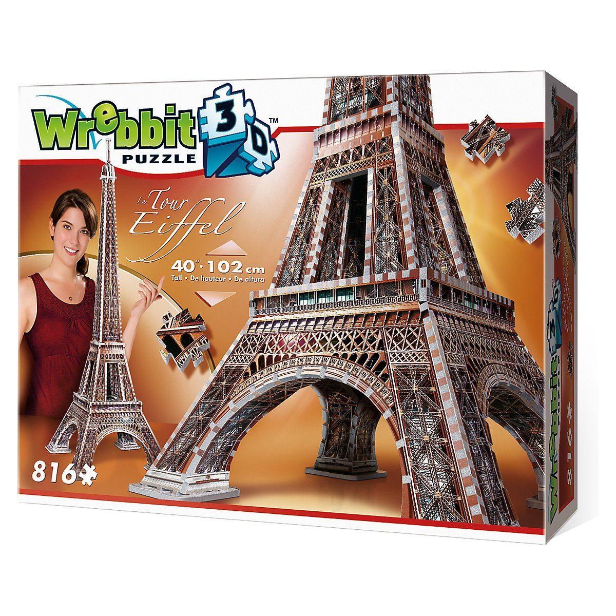 wrebbit 3d puzzle wrebbit 3d puzzle 816 teile eiffelturm puzzleteile