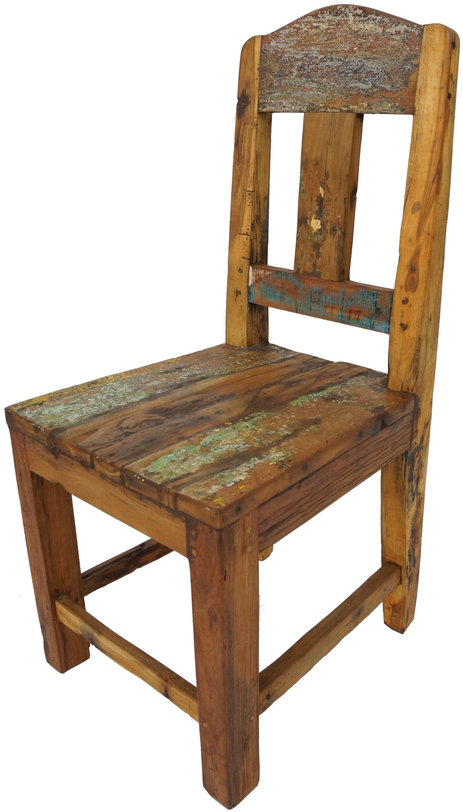 Guru Shop Stuhl »Stuhl aus recyceltem Teakholz   Modell 12 ...