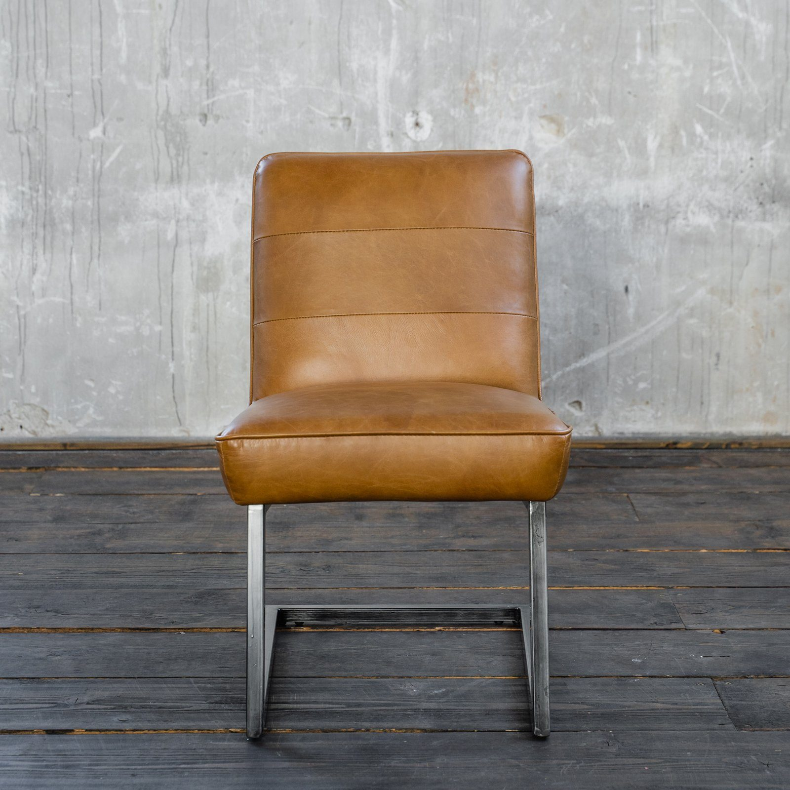 KAWOLA Esszimmerstuhl »SALI« Freischwinger Vintage Leder ...
