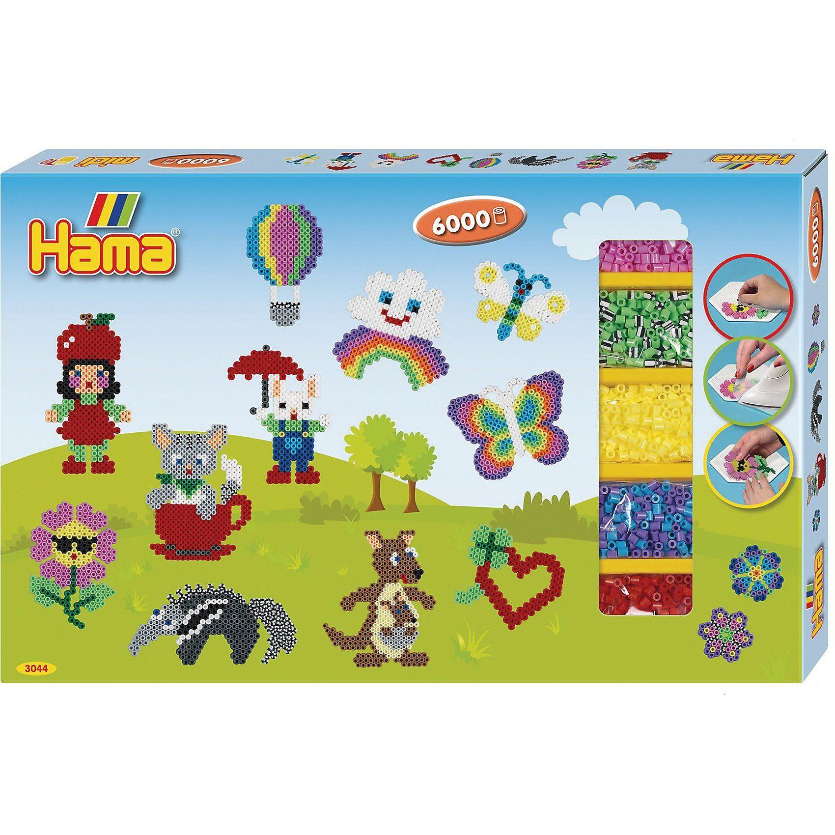 Hama Bundle Mit 11 000 Bunten Bugelperlen 3 Stiftplatten Hama