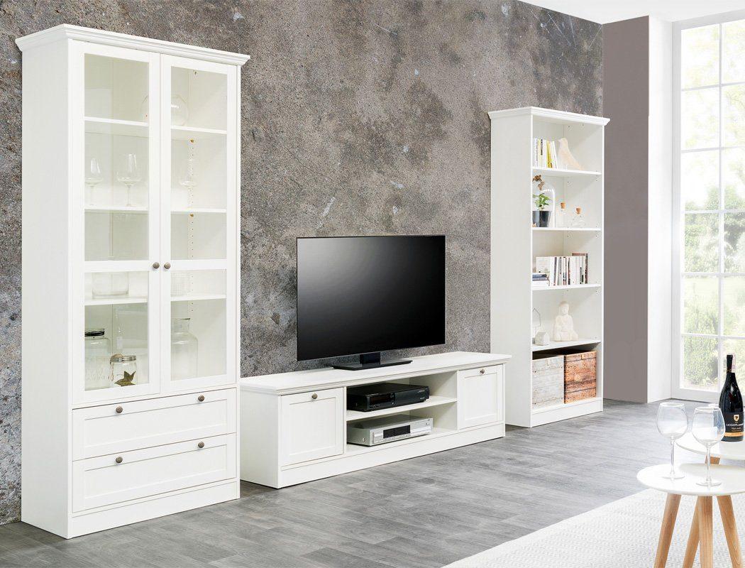 expendio Wohnwand »Landström 150«, Spar Set, 3 tlg, Landhausstil weiß online kaufen   OTTO