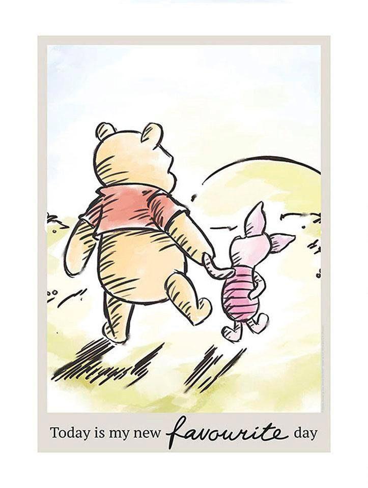 komar poster winnie pooh today disney hohe 70cm online kaufen otto