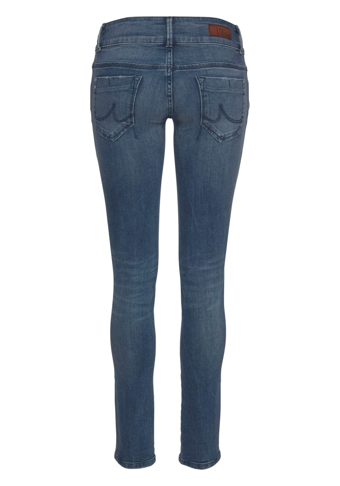 ltb slim fit jeans »molly« blauw