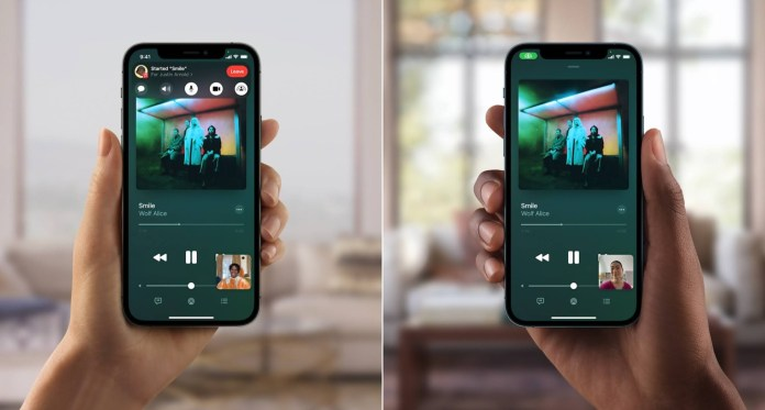 listening to music on facetime via shareplay