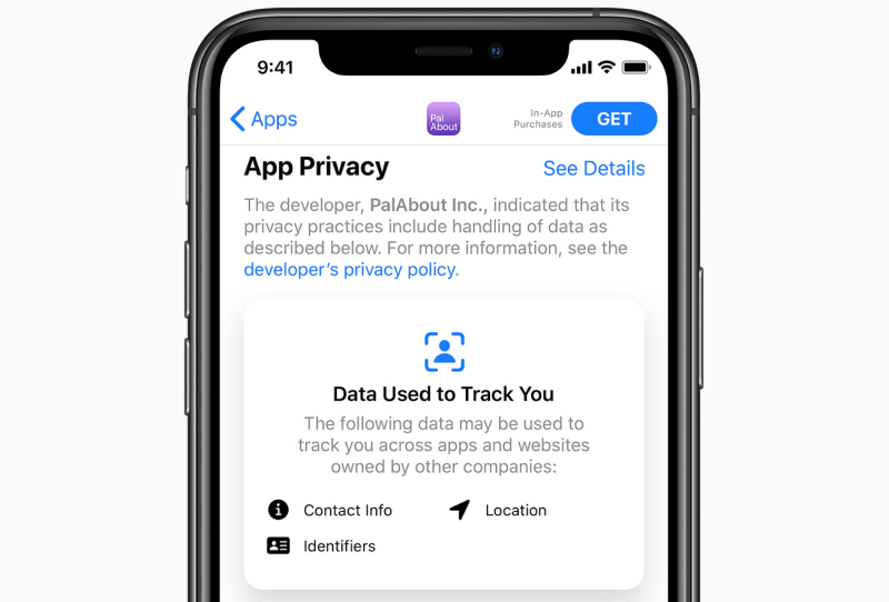 The privacy prompt from Apple