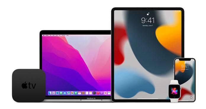 Apple TV, MacBook, iPad, iPhone, Apple Watch