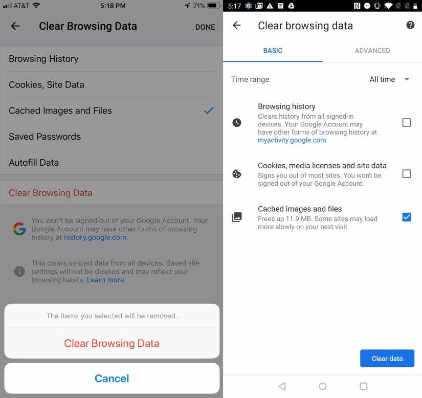 Effacer les cookies sur Chrome (iOS et Android)