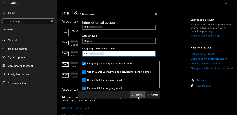 internet mail account