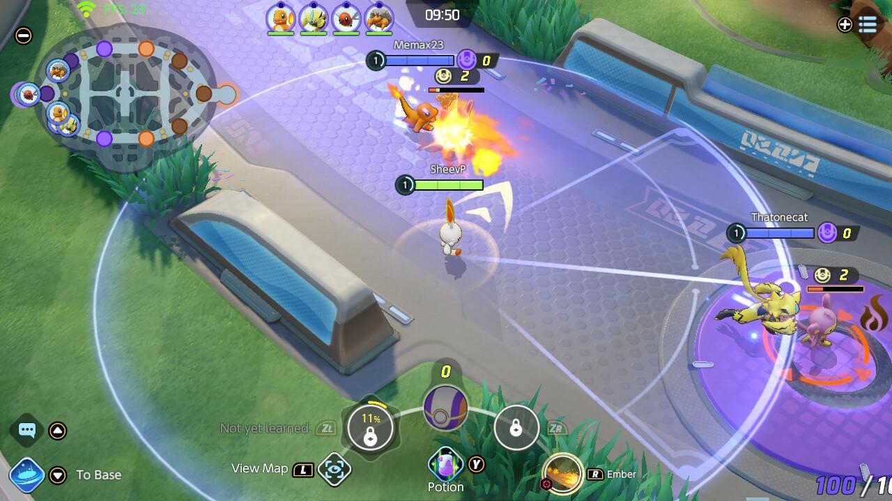 Pokemon Unite attack