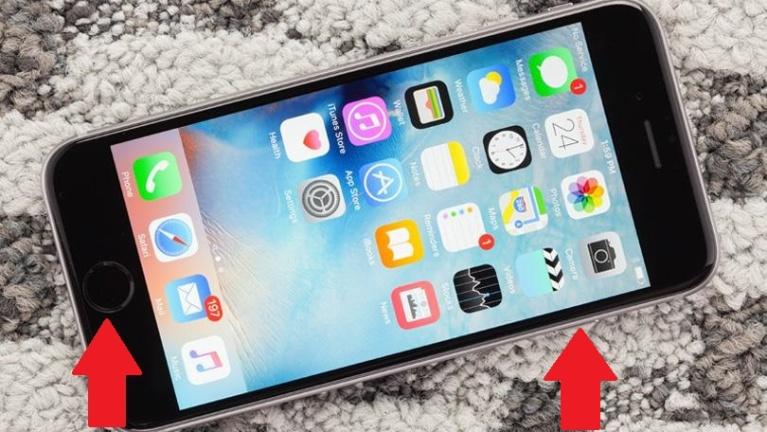Forzar el reinicio de un iPhone 6s o anterior
