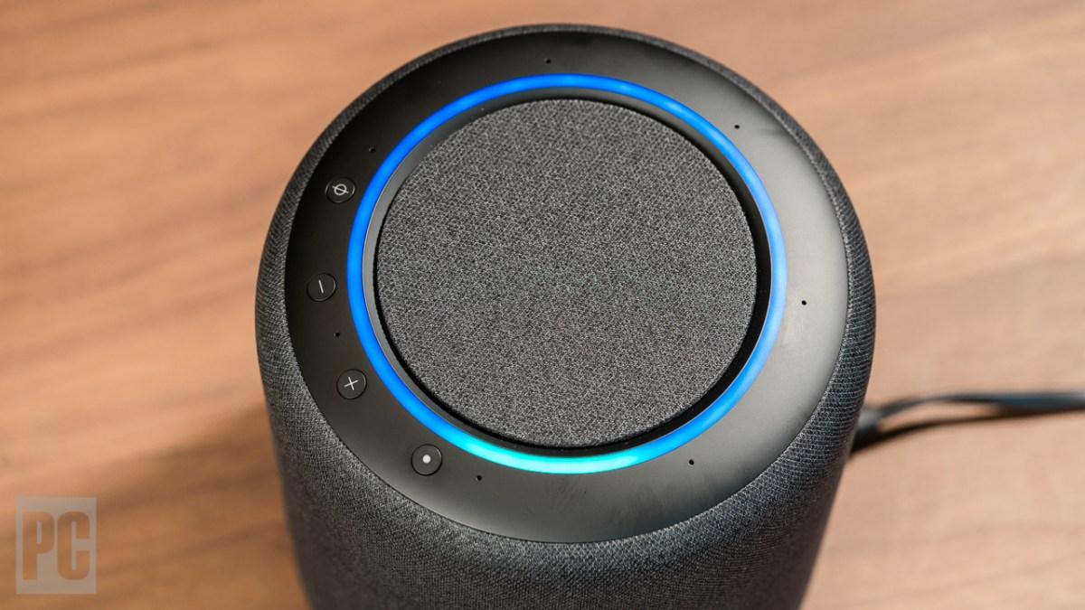 Amazon Echo Studio top view