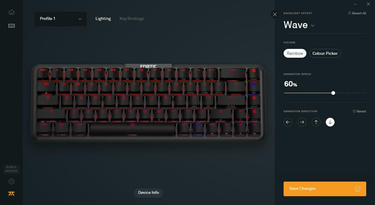 Программное обеспечение Fnatic OP для клавиатуры