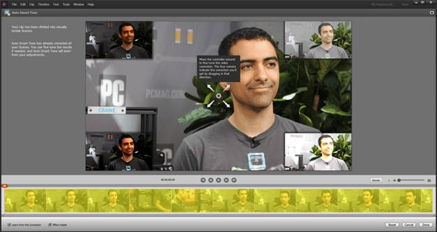 Auto Smart Tone in Adobe Premiere Elements