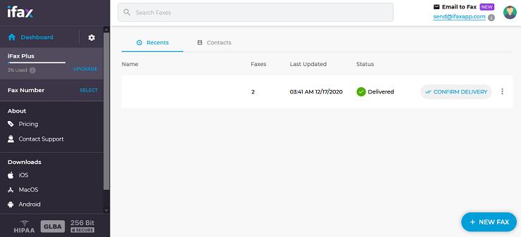 Веб-интерфейс iFax
