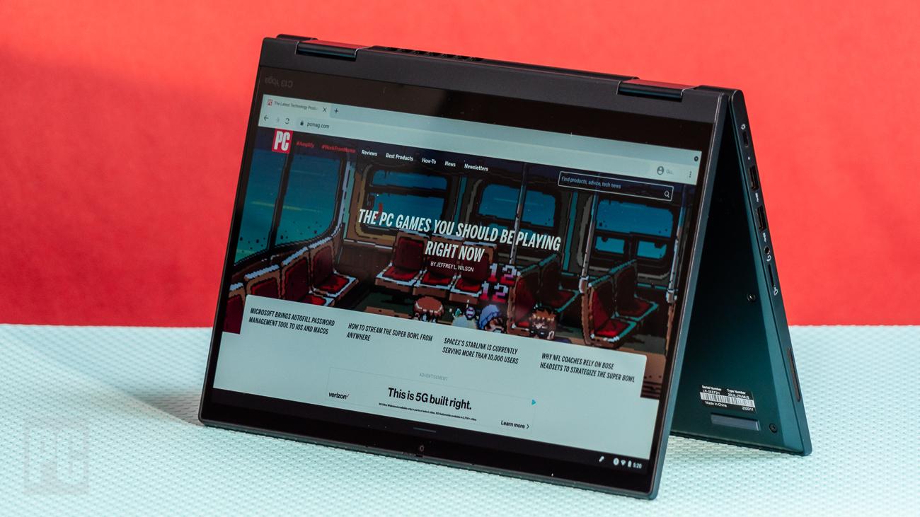Lenovo ThinkPad C13 Yoga Chromebook tent mode