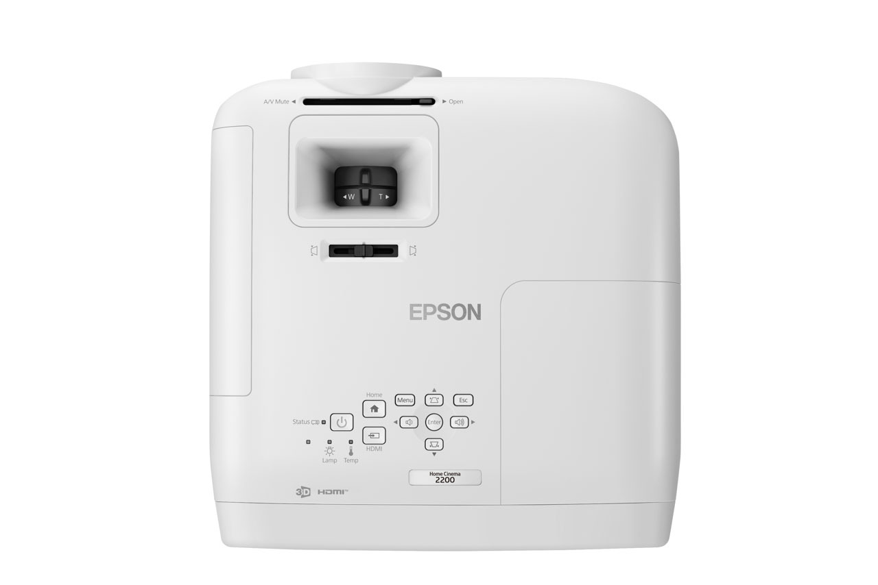 Домашний кинотеатр Epson 2200 наверху