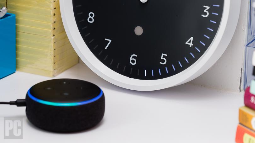 Echo Wall Clock with Echo Dot