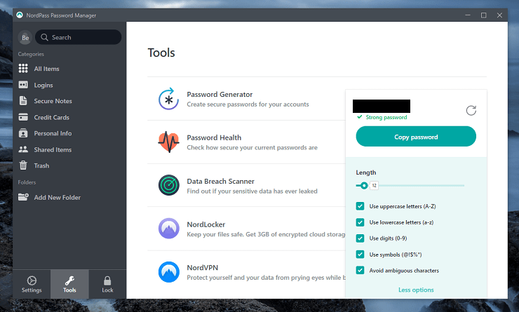 NordPass Password Generator