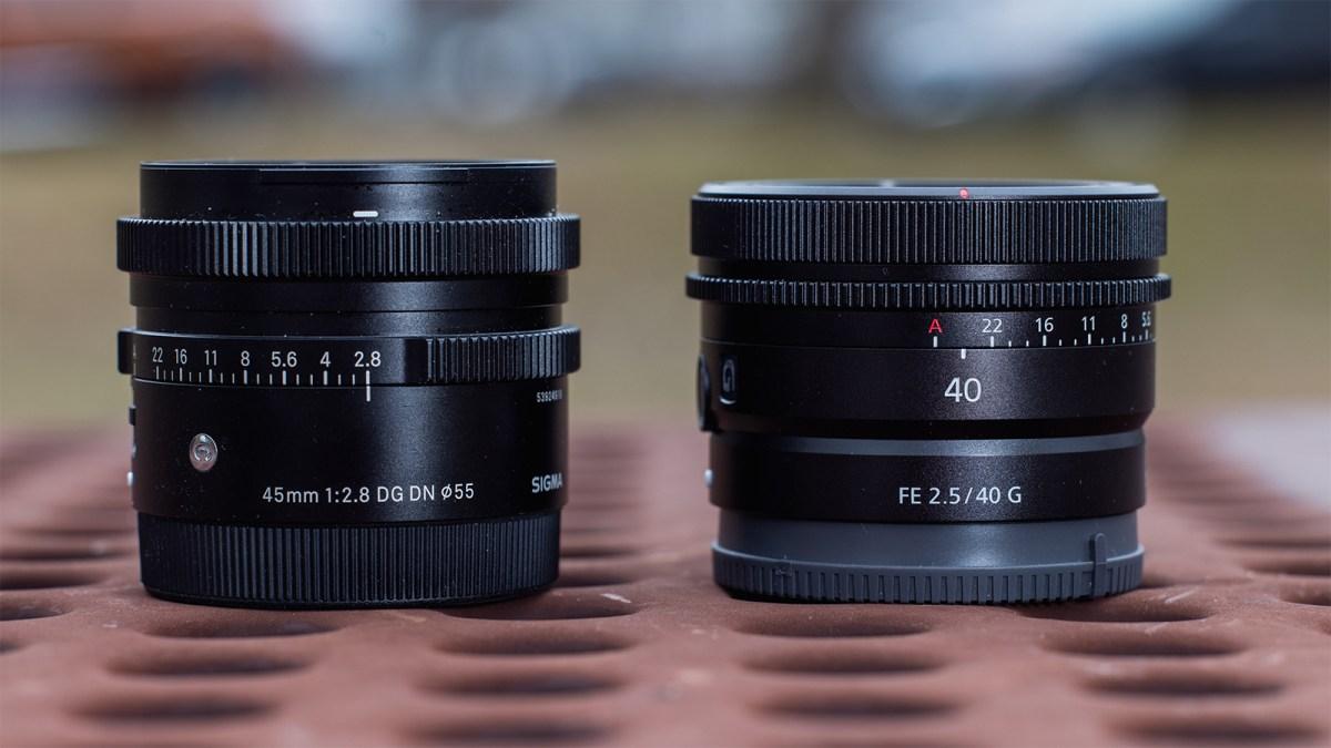 Sigma 45mm F2.8 DG DN Contemporary vs. Sony FE 40mm F2.5 G