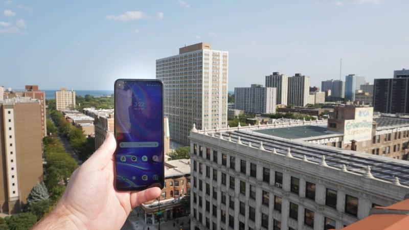 Person holding Motorola One 5G
