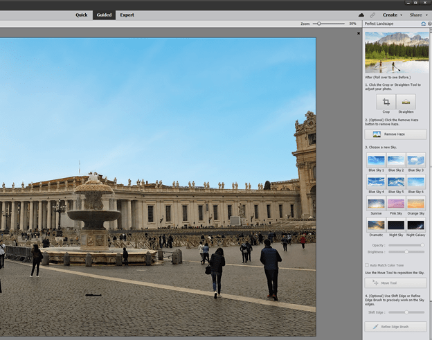 Perfect landscapes in Adobe Photoshop Elements