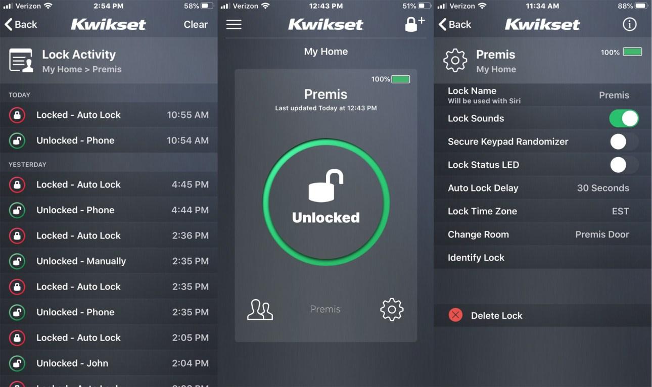 Приложение Kwikset Premis Contemporary Smart Lock