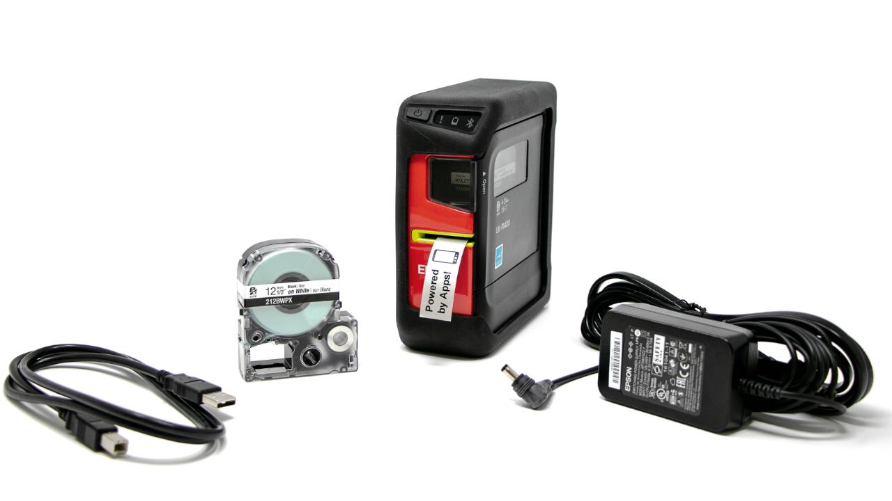 Epson LW-PX400 с ленточным картриджем, адаптером переменного тока и USB-кабелем
