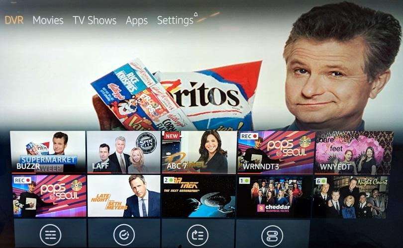 Amazon Fire TV home screen