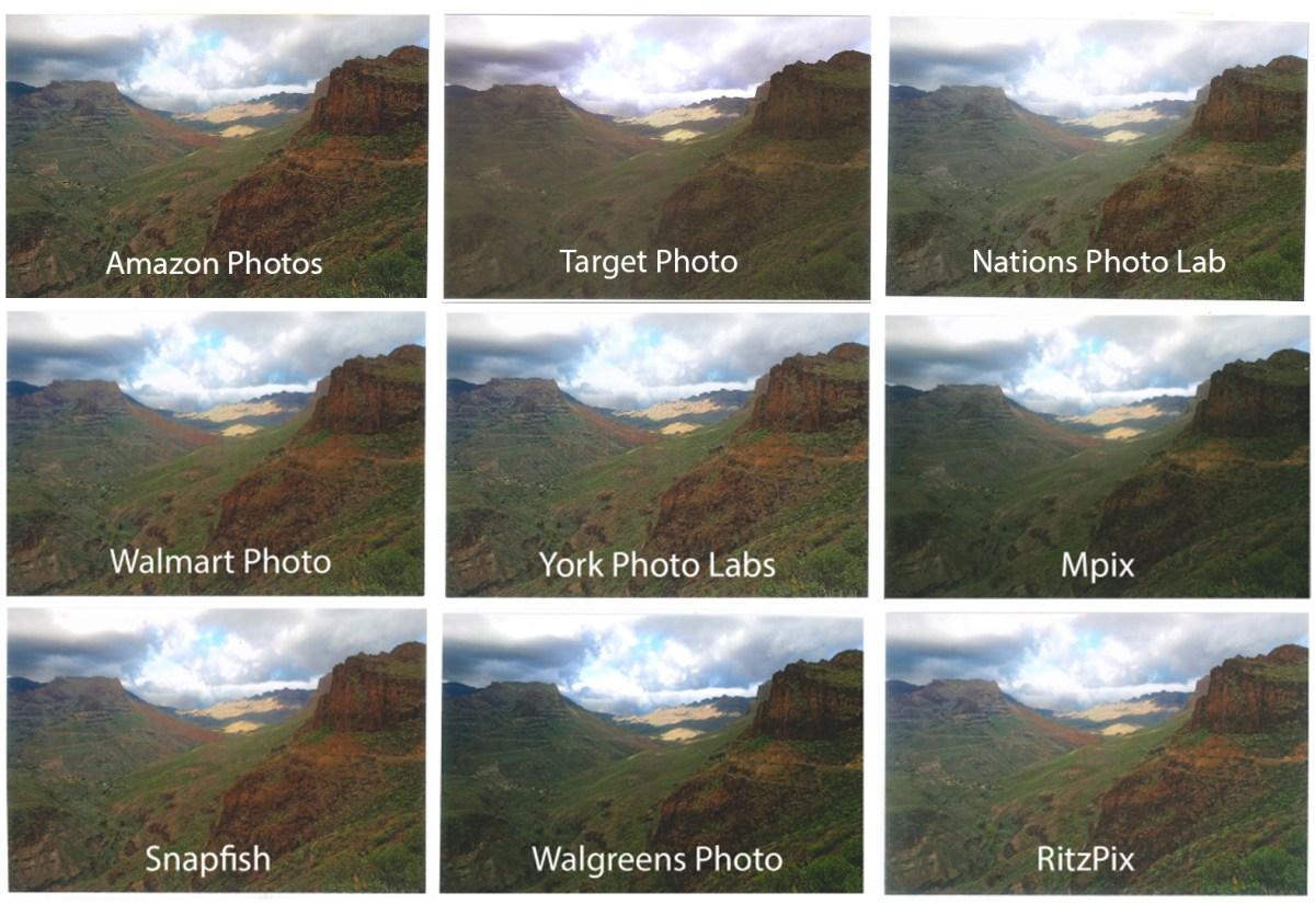 Target Photo landscape print quality comparison