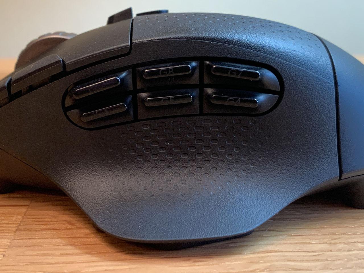 Боковые кнопки беспроводной игровой мыши Logitech G604 Lightspeed - закрыть