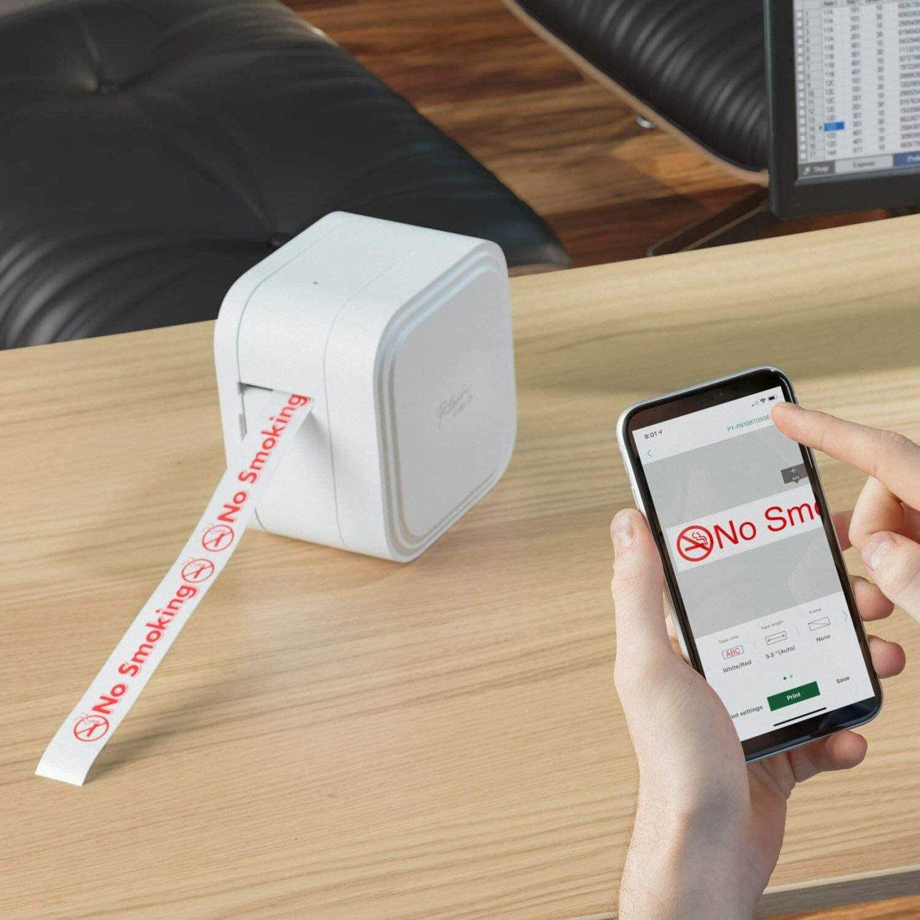 Brother P-touch Cube XP: печать со смартфона