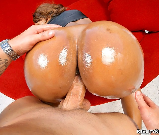 Its Such A Pleasure To Wank The Rock Hard Member Over This Ebony Girls Big Ass