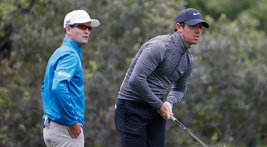 Rory McIlroy knocked off Zach Johnson in 18 holes on Saturday. (Christian Petersen/Getty Images)