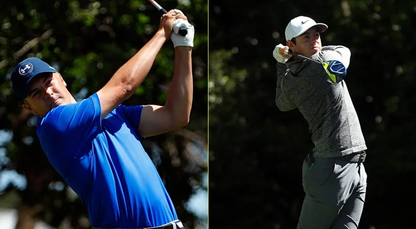 Jordan Spieth is playing for his second consecutive Green Jacket. Rory McIlroy is seeking the career Grand Slam. (Getty Images)