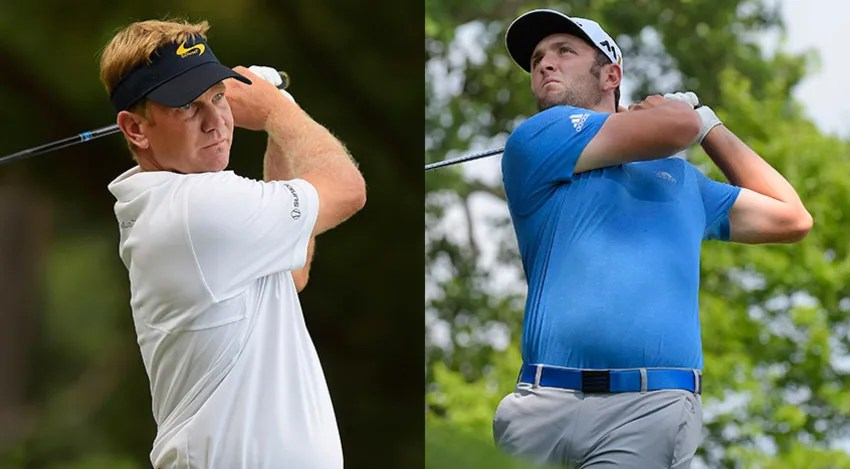 Billy Hurley and Jon Rahm played together in the opening two rounds at Congressional CC, and they'll do the same on Saturday. (Getty Images)