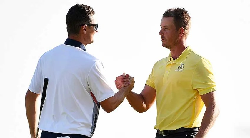 Olympic medalists Justin Rose and Henrik Stenson will team up next year at the Zurich Classic. (Ross Kinnaird/Getty Images)