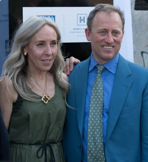 Joshua Harris and his wife Marjorie Rubin attending a program in Harris Family Charitable Foundation